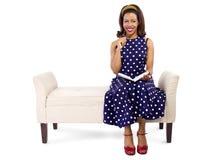 Creative Retro Female Author Writing Royalty Free Stock Images