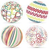 Creative Retro Geometric Sphere Logo Template Royalty Free Stock Images