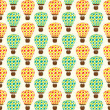 Creative retro hot air balloon pattern design Stock Photos