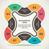Creative retro infographic design Stock Photos