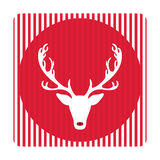 Creative retro Merry Christmas greeting card. Hipster funny deer. Vector art. Xmas celebration vector illustration