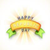 Creative ribbon for Indian Republic Day celebration. Royalty Free Stock Image