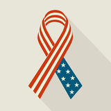 Creative Ribbon with USA Flag For Memorial Day Stock Photo