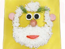 Creative rice porridge face shape Stock Photo