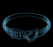 Creative ring. (3D x-ray blue transparent isolated on black Stock Image