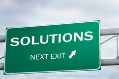Creative Road Sign about Solutions royalty free stock photos