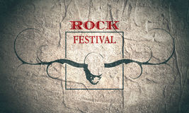 Creative Rock music poster template. Stock Images