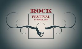 Creative Rock music poster template. Royalty Free Stock Photos