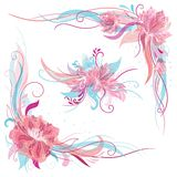 Creative Romantic Vector Floral Ornaments Stock Image