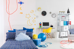 Creative room of creative child Stock Images