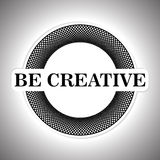 Creative round Emblem Royalty Free Stock Images