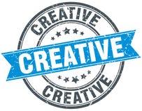 Creative round grunge  stamp. Creative round grunge ribbon stamp Royalty Free Stock Photo