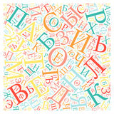 Creative Russian alphabet texture background Stock Photography