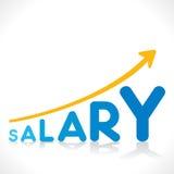 Creative salary growth concept. Creative salary increment graph design concept vector Royalty Free Stock Photos