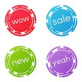 Creative sale discount or promotion label designs, price tags, s Royalty Free Stock Images