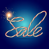 Creative sale text Royalty Free Stock Image