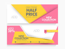 Creative Sale web header or banner set. Royalty Free Stock Images