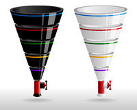 Creative sales funnels set Royalty Free Stock Images
