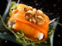 Creative salmon food A royalty free stock image