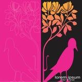Creative sample design bird background. Concept business Stock Photo