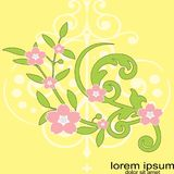 Creative sample design flower background. Concept business Royalty Free Stock Photos
