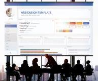Creative Sample Website Design Template Concept Stock Images