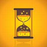 Creative sand clock vector Royalty Free Stock Photos