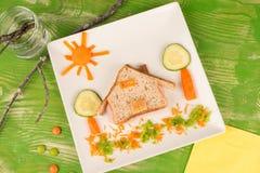 Creative sandwich for kids Stock Photos