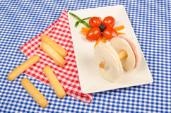 Creative sandwich Royalty Free Stock Image