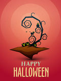 Creative scary illustration for Halloween Party celebration. Royalty Free Stock Photos