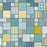 Creative Seamless Patchwork Pattern Stock Images