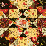 Creative seamless patchwork pattern with flowers Stock Photo
