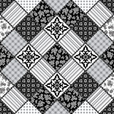 Creative seamless patchwork pattern Stock Photo