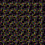 Creative seamless pattern colorful stylish with do Stock Photography