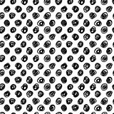 Creative Seamless pattern. Black and white circles. Artistic universal background. Hand Drawn textures. Design for poster card invitation header, cover royalty free illustration