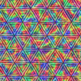 Creative Seamless Pattern of Iridescent Triangles. Royalty Free Stock Photos