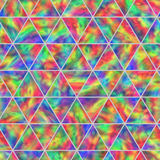 Creative Seamless Pattern of Iridescent Triangles. Stock Photos