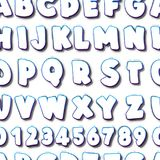 Creative seamless pattern with lettering alphabet. For your design Stock Photo