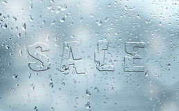 Creative seasonal soft blue sale concept background Royalty Free Stock Images
