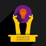 Creative service  icon design Stock Photography
