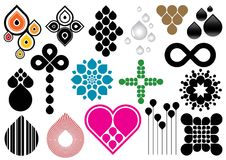 Creative set #36. Collection of various colorful organic elements Royalty Free Stock Images
