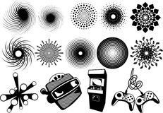 Creative set #38. Collection of various gaming elements, swirls and other decorative elements Royalty Free Stock Photo