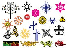 Creative set #6 Stock Images