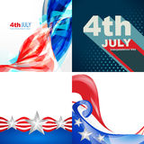 Creative set of american flag design of 4th july independence da. Vector creative set of american flag design of 4th july independence day background stock illustration
