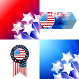 Creative set of american flag design of 4th july independence da Stock Photo