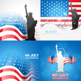 Creative set of american independence day background. Vector set of american independence day background of american flag illustration Stock Photo