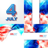 Creative set of american independence day background Royalty Free Stock Images