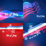 Creative set of american independence day background Royalty Free Stock Image