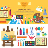 Creative set for artist. Ideas, creativity Royalty Free Stock Photo