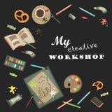 Creative set for artist Royalty Free Stock Photos